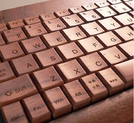 wood keyboard_hacoa